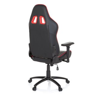 Gaming Stuhl / Bürostuhl LEAGUE PRO Kunstleder schwarz / rot hjh OFFICE N