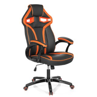 NEU! Gaming Stuhl / Bürostuhl GUARDIAN Kunstleder schwarz / orange hjh OFFICE