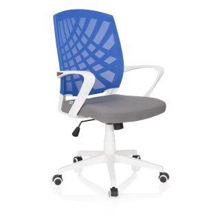 Schreibtischstuhl Bürostuhl Drehstuhl SISCA WHITE Stoff Blau Pink hjh OFFICE