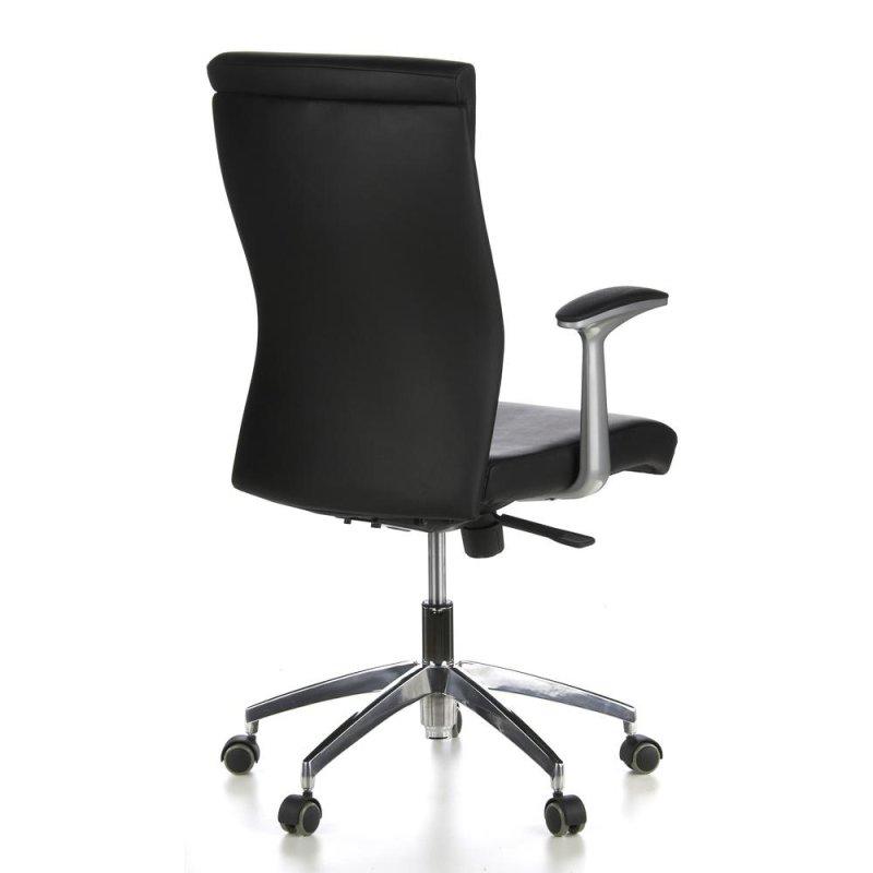b rostuhl chefsessel monza 10 leder schwarz hjh office. Black Bedroom Furniture Sets. Home Design Ideas