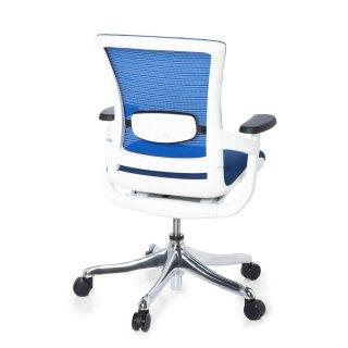 Bürostuhl weiß stoff  Bürostuhl SKATE STYLE Sitz Stoff blau / Rücken Netz blau /
