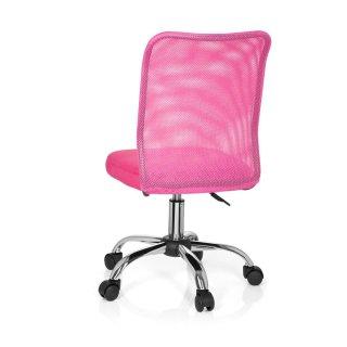 Kinderschreibtischstuhl / Kinderstuhl KIDDY TOP Netzstoff pink hjh OFFICE
