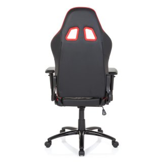 Gaming Stuhl / Bürostuhl LEAGUE PRO Kunstleder schwarz / rot hjh OFFICE